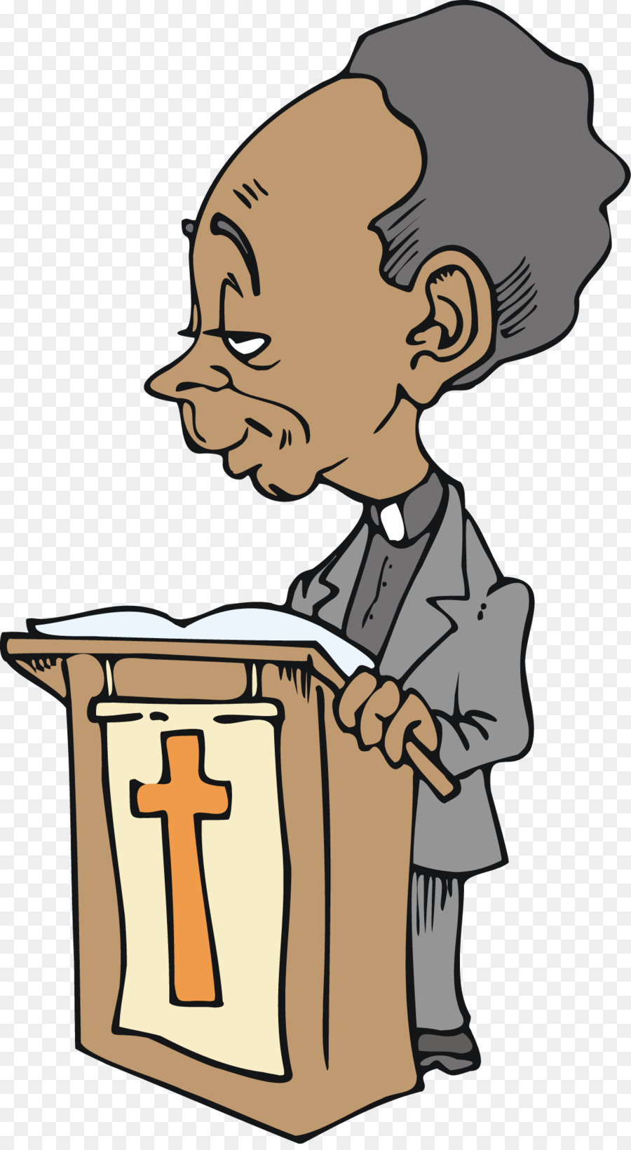 Black preacher clipart clip art royalty free download Church Cartoon png download - 1077*1953 - Free Transparent Preacher ... clip art royalty free download