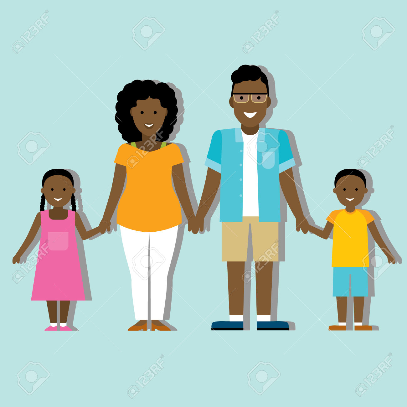 African american family clipart pictures