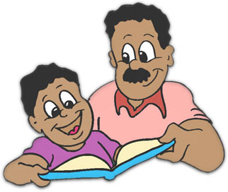 Father and son talking clipart
