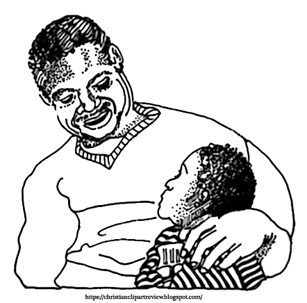African american father and son clipart vector freeuse stock African American Father and Son   Christian Clip Art Review vector freeuse stock