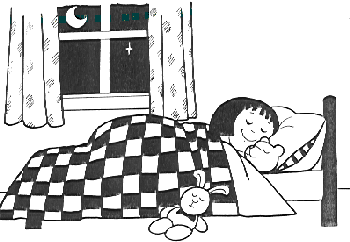 Clipart images black n white sleepy time banner black and white download going to bed funny free pics | What time do you go bed most of the ... banner black and white download