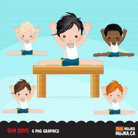 African american gymnast clipart png library download Gymnastics Clipart. Gymnast boys, card making, planner stickers ... png library download