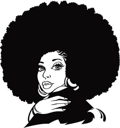 Black woman with afro clipart image royalty free library Natural Black Hair Clipart Clipart Panda Free Clipart Images ... image royalty free library