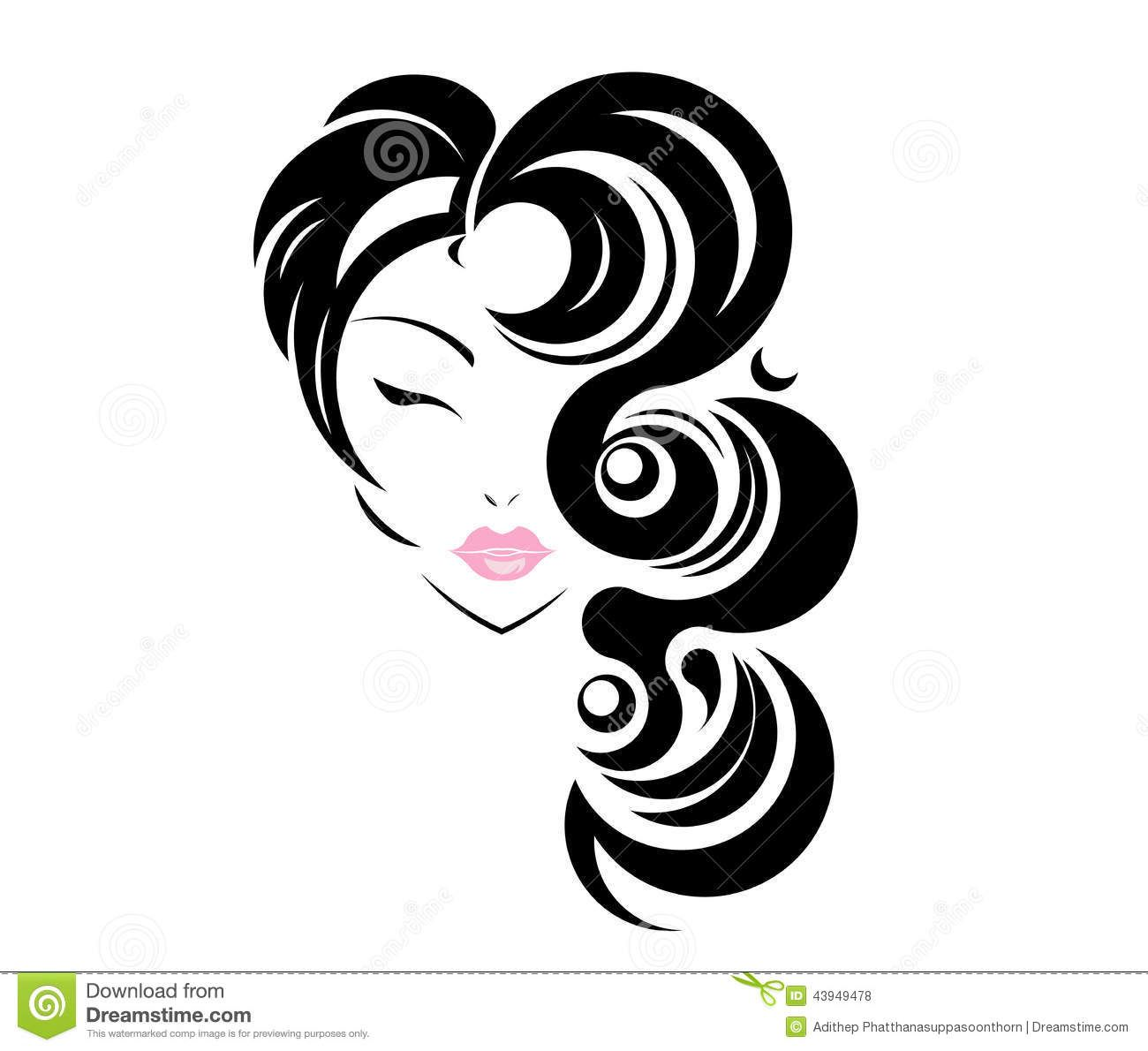 African american hair stylist clipart black and white free library Pin by Chrisp Media on Forever Glamorous | Beauty salon logo, Salon ... free library