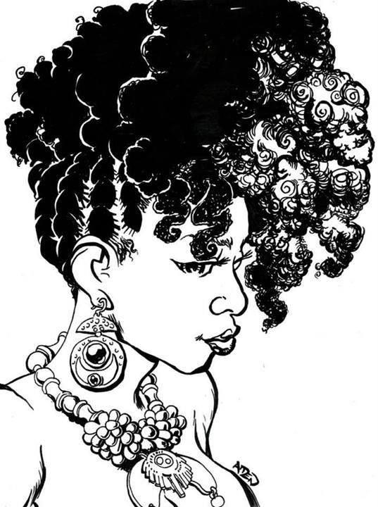 African american makeup clipart
