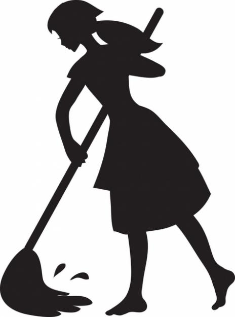African american housekeeping clipart