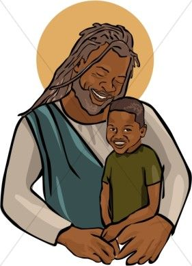 African american jesus clipart png royalty free library African American Jesus with Child | ROCK ART/glass/mosaic etc ... png royalty free library