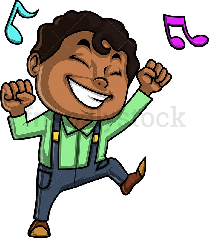 African american listening to music clipart stock Black Boy Dancing To Music in 2019 | How to Draw | Kids vector, Dark ... stock