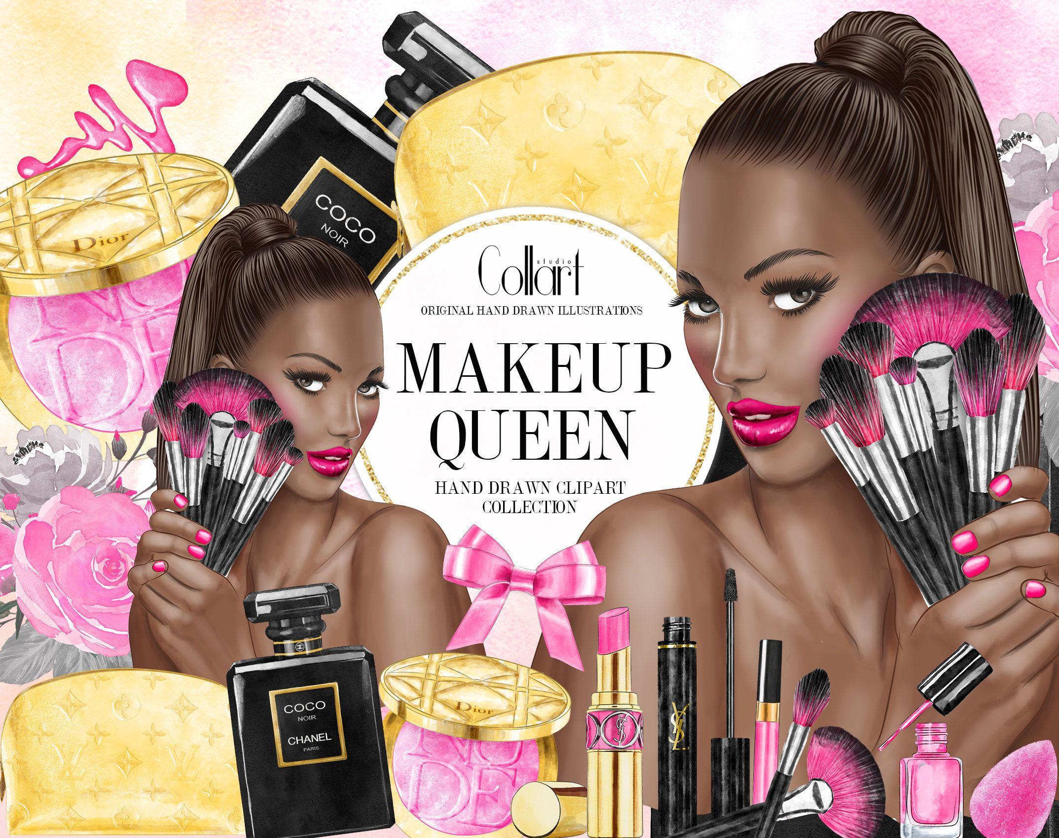 African american makeup clipart banner stock Makeup Clip Art Cosmetics Clipart Watercolor clipart illustrations ... banner stock
