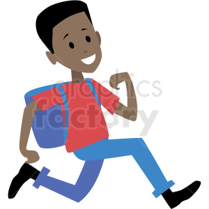 African american man clipart png black and white african american kid running late for school vector clipart . Royalty-free  clipart # 409986 png black and white