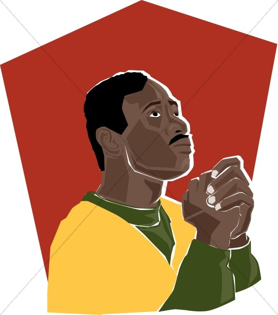 African american man clipart clip download African American Praying Man | Prayer Clipart clip download