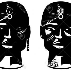 African american man face black and white clipart image transparent African American Grandmother Portrait Old Woman Face Vector Clipart ... image transparent