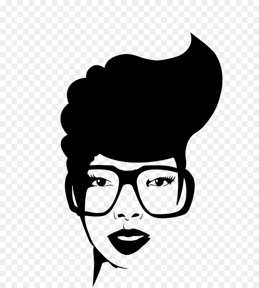 African american man face black and white clipart free library Woman Hair png download - 660*1000 - Free Transparent Afrotextured ... free library