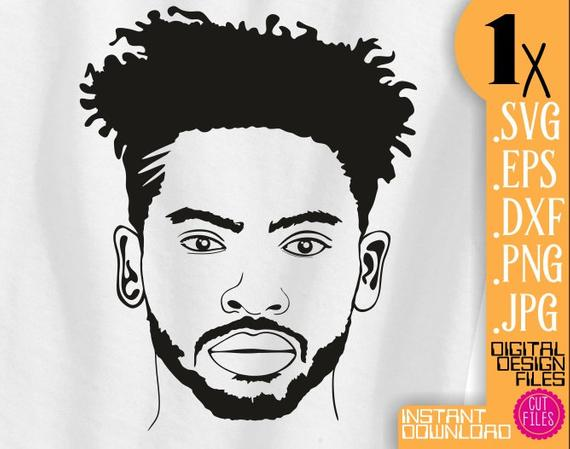 African american men hair clipart graphic royalty free stock Beard Black Man svg, Afro men clipart, short beard file, Curly Hair ... graphic royalty free stock