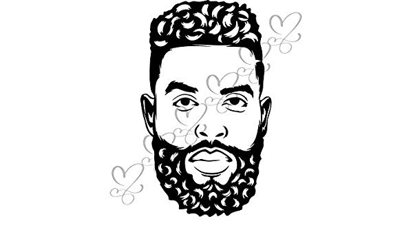 African american man face black and white clipart graphic stock Amazon.com: Yetta Quiller Black King Man Life Respect Quotes Boss ... graphic stock