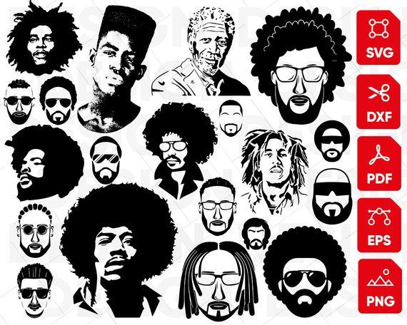 African american men hair clipart png transparent Afro man svg, black man svg, african american svg, afro hair svg ... png transparent