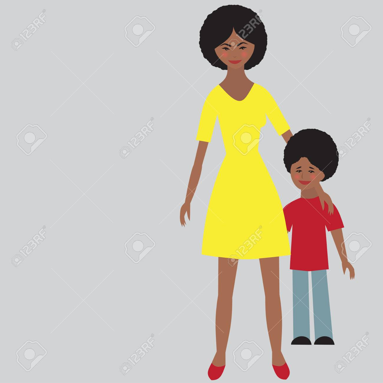 African american mom clipart banner library download Free African American Boy And Mom Clipart & Free Clip Art Images ... banner library download
