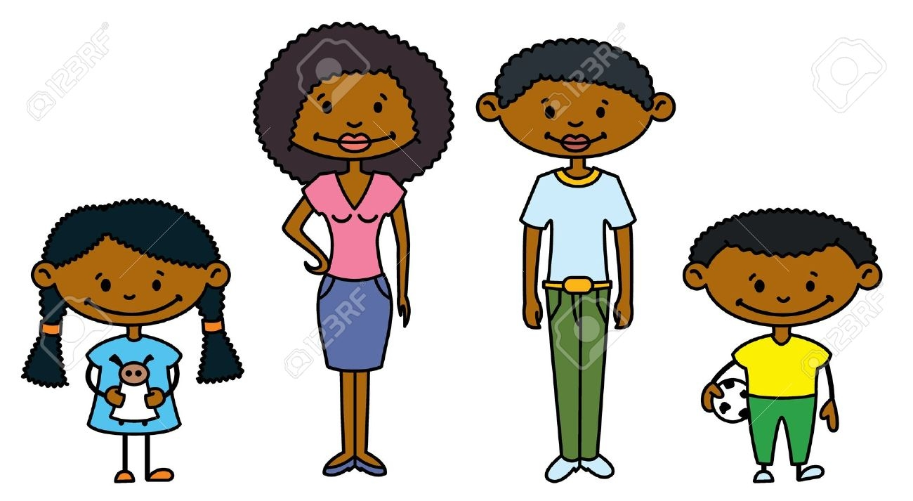 African american mom clipart image black and white download African American Family Clipart | Free download best African ... image black and white download