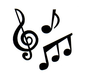 Pictures download clip art. Free black and white clipart of music notes
