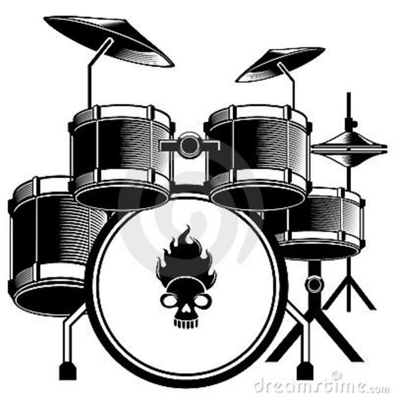 Gong keyboard clipart black and white