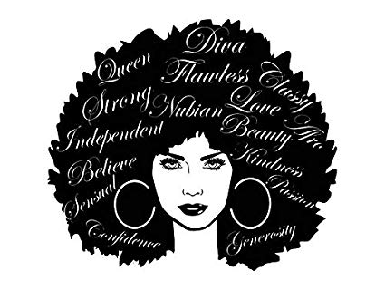 Black girl with afro clipart jpg freeuse Amazon.com: EvelynDavid Black Women Stylish Princess Princess Queen ... jpg freeuse