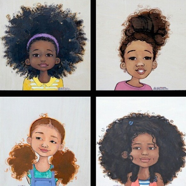 African american natural hairstyles clipart picture black and white Black Girl With Natural Hair Drawing at PaintingValley.com | Explore ... picture black and white