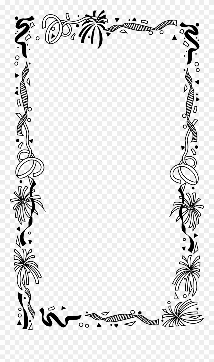 African american new babies borders and frames clipart png free stock Borders And Frames Picture Frames Drawing Clip Art - Black And White ... png free stock