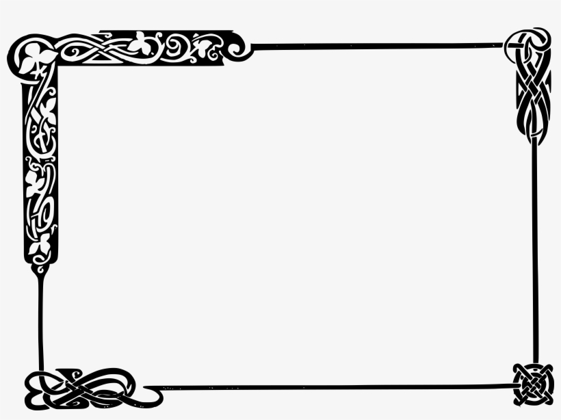 African american new babies borders and frames clipart library 28 Collection Of Frame Clipart Black And White Png - Celtic Knot ... library