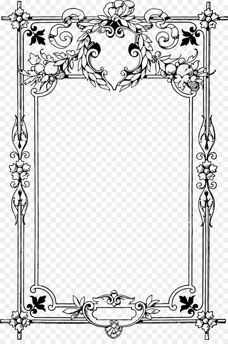 African american new babies borders and frames clipart clip freeuse library Black And White Frame png download - 1958*2924 - Free Transparent ... clip freeuse library