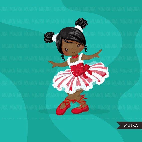 African american nutcracker clipart clip freeuse stock Christmas Ballerina clipart, ballet characters, African American ... clip freeuse stock