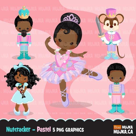 African american nutcracker clipart black and white Christmas clipart, Nutcracker ballet characters pastel, African ... black and white