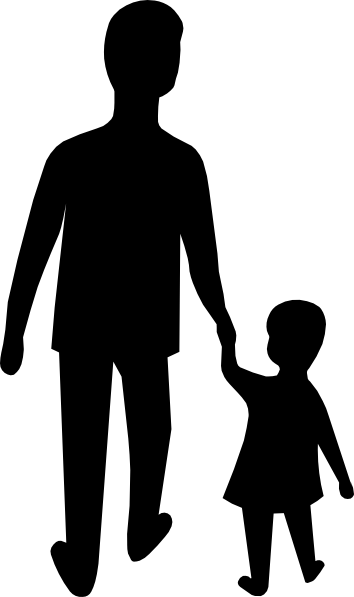 African american parents walking holding child hand clipart vector black and white library Parent Dad Hold Child Hand Clip Art at Clker.com - vector clip art ... vector black and white library
