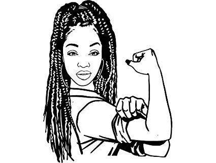 Black girl with braids clipart clip art royalty free stock Amazon.com: EvelynDavid Black Woman Braids Hairstyle Stylish ... clip art royalty free stock