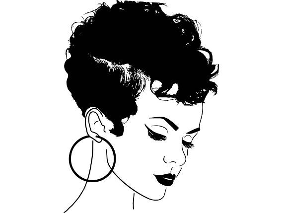 African american woman clipart svg freeuse stock Pin by Frompain2purpoze on Download | Black girl art, Salon art, Afro freeuse stock