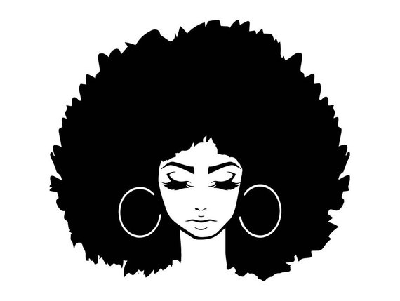 Black girl with afro clipart png library download Black Women Nubian Princess Queen Afro Hair Beautiful African ... png library download