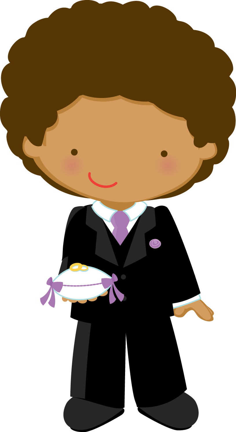African american ring bearer clipart picture transparent download Flower Girl and Ring Bearer Clipart. | Oh My Fiesta Wedding! picture transparent download