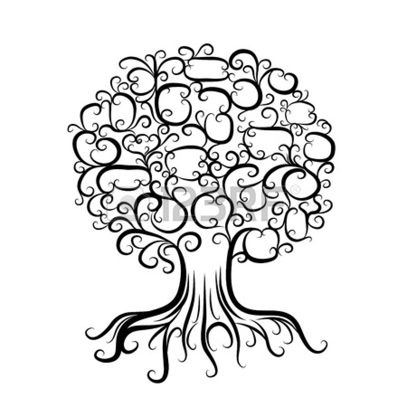 African american roots clipart jpg black and white Family Tree With Roots | Free download best Family Tree With Roots ... jpg black and white