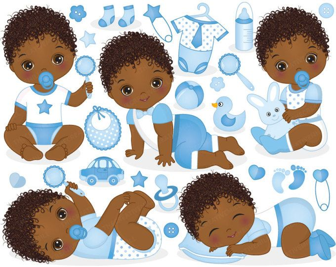 African american sleeping baby clipart svg royalty free library Baby Boy Clipart - Vector Baby Clipart, Baby Clipart, Newborn ... svg royalty free library