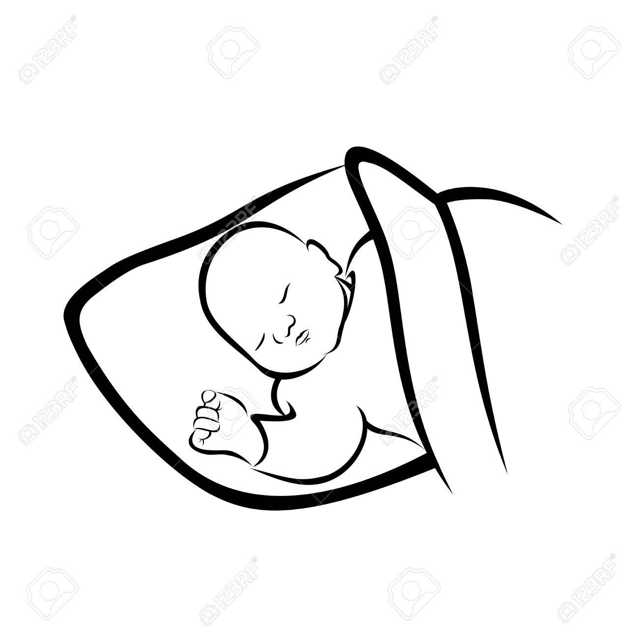 African american sleeping baby clipart picture stock Sleeping Baby Clipart Black And White (109+ images in Collection) Page 3 picture stock