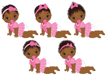 African american sleeping baby clipart royalty free Vector Cute African American Baby Girl Sleeping - Buy this stock ... royalty free