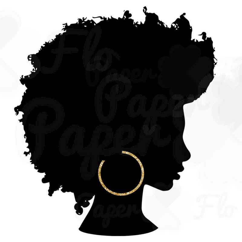 Curly hair girl clipart qith face paint