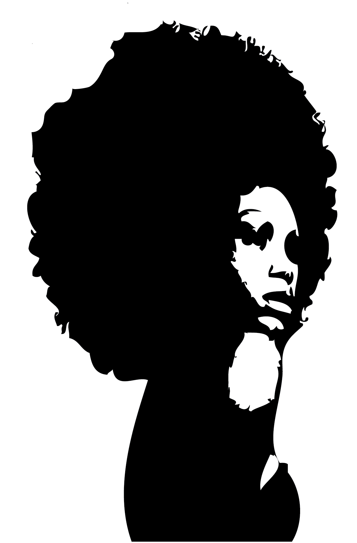 Afro silhouette clipart graphic transparent stock Silhouette Black African American Female Clip art - Afro Lady ... graphic transparent stock