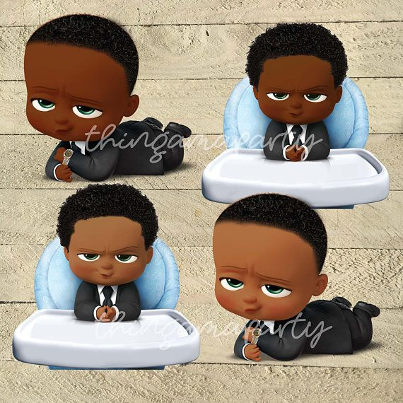 African american twin boys clipart vector library library African American Boss Baby Boy| Babies of Color Set | Afro Hair ... vector library library