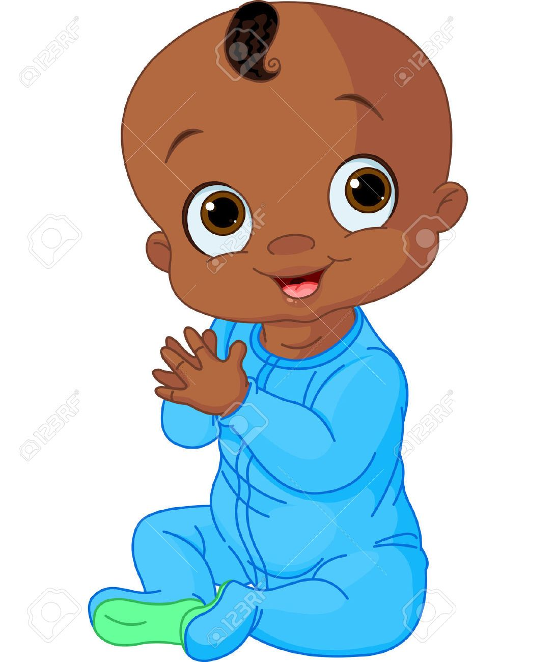 Baby boy and girl white and african clipart vector library library Baby Boy Cartoon Images, Stock Pictures, Royalty Free Baby Boy ... vector library library