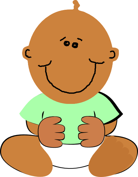 Black baby cartoon clipart svg free library African American Baby Clipart Free | Free download best African ... svg free library