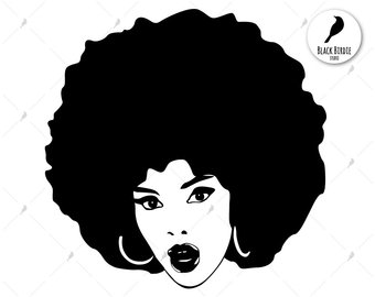 African american woman clipart svg vector freeuse stock Afro clipart glass svg - 36 transparent clip arts, images and ... vector freeuse stock