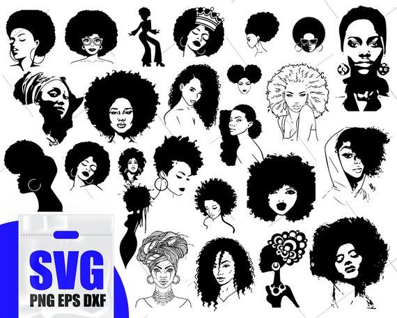African american woman clipart svg clip art royalty free Afro Woman svg Bundle, Black woman svg, African American Woman ... clip art royalty free