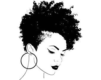 African american woman face clipart jpg freeuse Afro clipart black woman face, Afro black woman face Transparent ... jpg freeuse