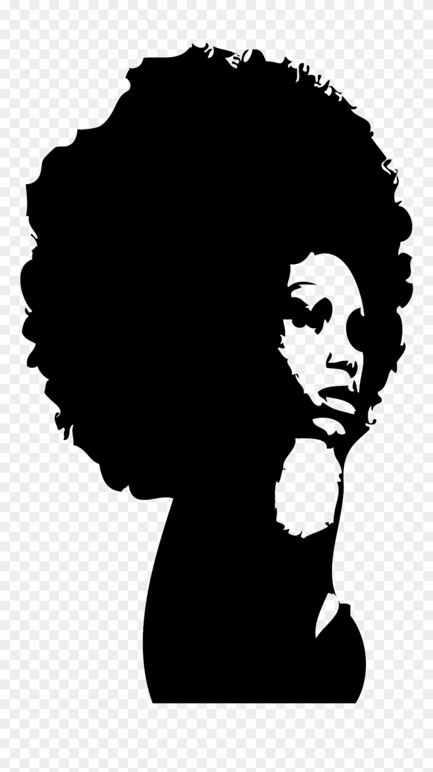 Female face silhouette clipart jpg download Popular Images - Black Woman Face Silhouette Clipart (#498388 ... jpg download
