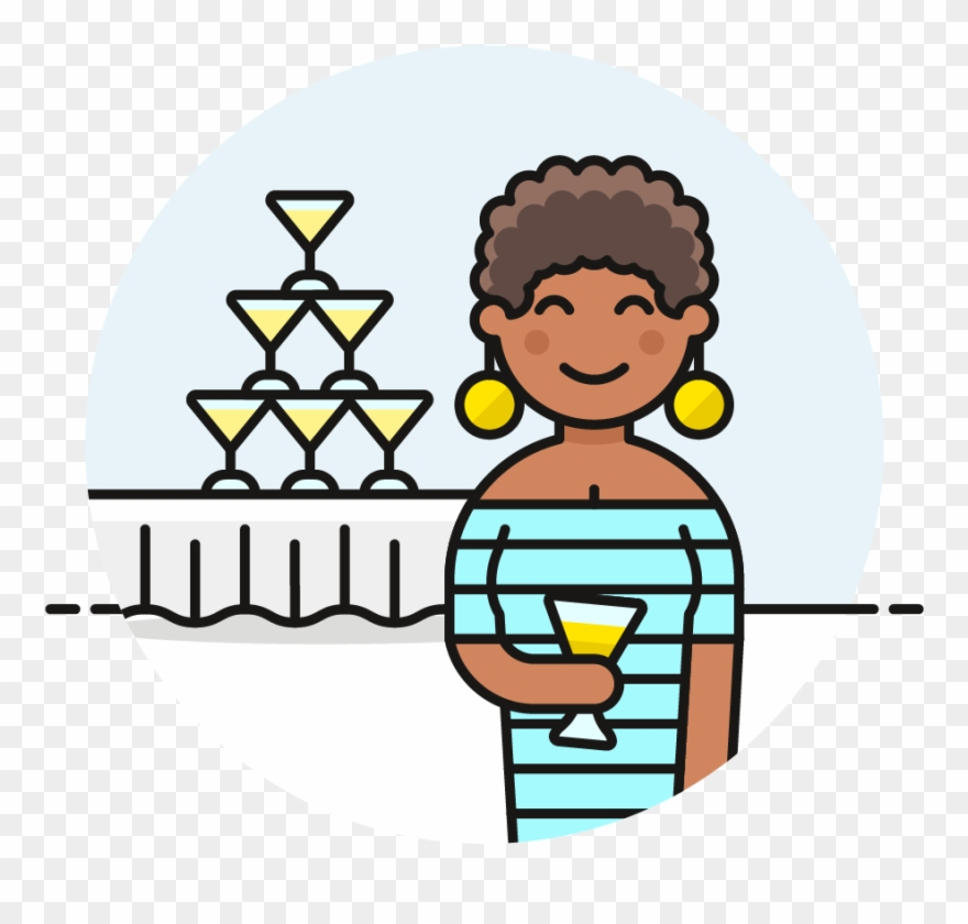African american woman party clipart clipart transparent download 100 Champagne Tower Party Female African American - Cartoon Clipart ... clipart transparent download